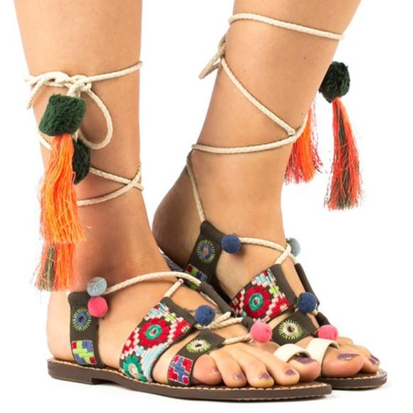 8f10a77fd36 Sam Edelman Gretchen Embellished Lace-Up Sandal